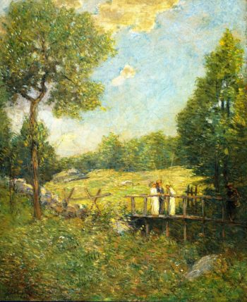 The Fishing Party   Julian Alden Weir   oil painting