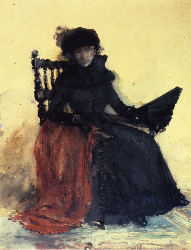 A Lady in Black | William Merritt Chase | oil painting