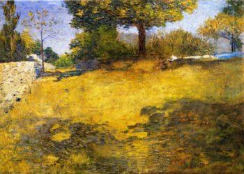 The High Pasture   Julian Alden Weir   oil painting
