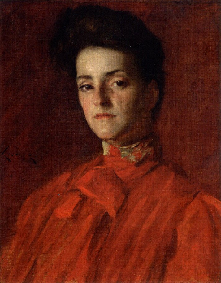 A Lady in Red | William Merritt Chase | oil painting
