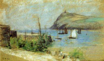 The Inlet   Julian Alden Weir   oil painting