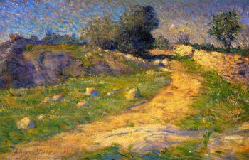 The Lane   Julian Alden Weir   oil painting