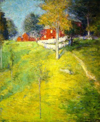 The Laundry Branchville   Julian Alden Weir   oil painting