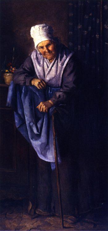 The Oldest Inhabitant   Julian Alden Weir   oil painting
