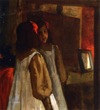 Alice in the Mirror | William Merritt Chase | oil painting
