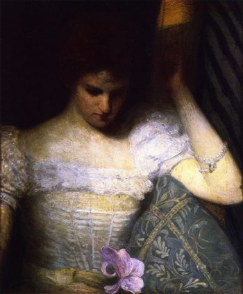 The Orchid   Julian Alden Weir   oil painting
