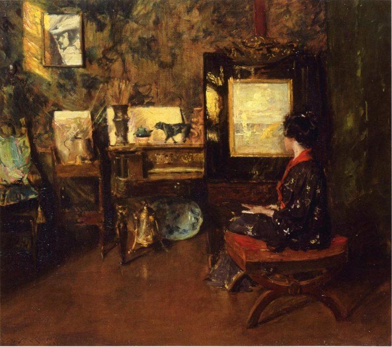 Alice in the Shinnecock Studio | William Merritt Chase | oil painting