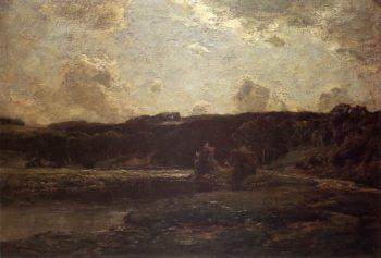 The River Bend   Julian Alden Weir   oil painting