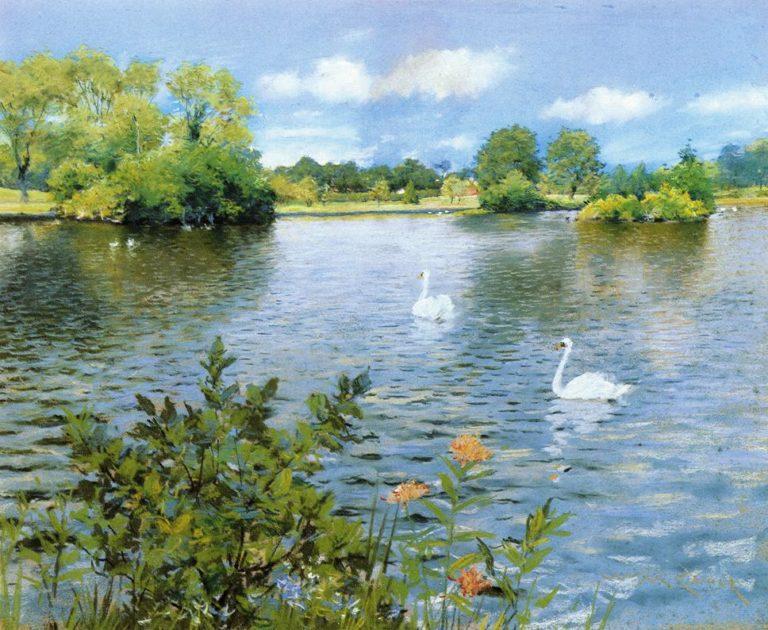 A Long Island Lake | William Merritt Chase | oil painting