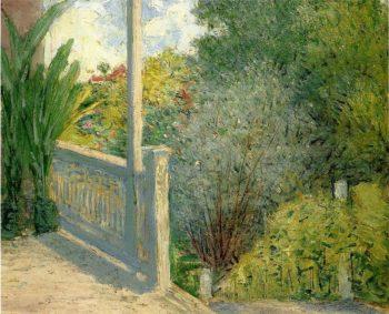 The Veranda   Julian Alden Weir   oil painting