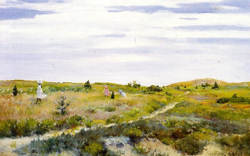 Along the Path at Shinnecock | William Merritt Chase | oil painting