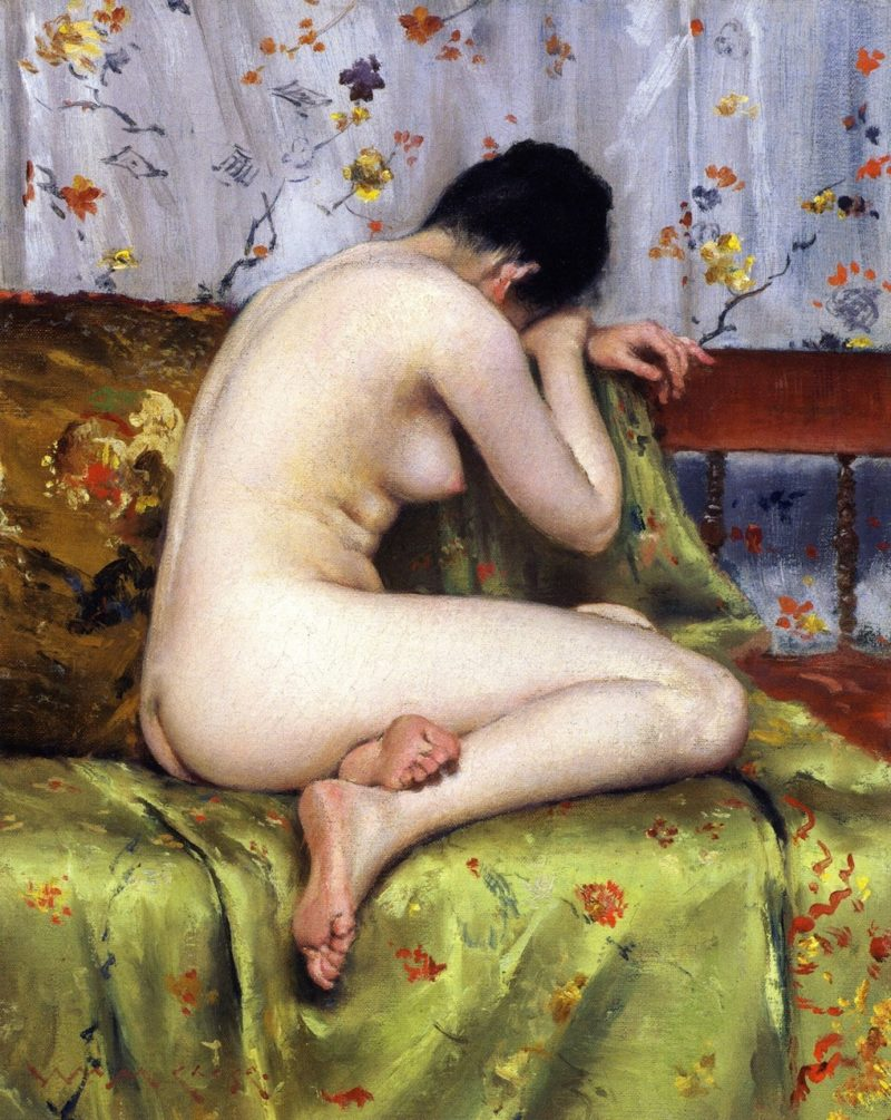 A Modern Magdalen | William Merritt Chase | oil painting