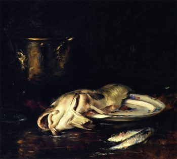 An English Cod | William Merritt Chase | oil painting