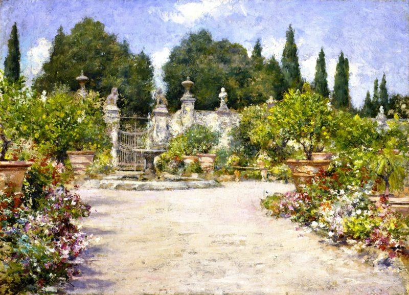 An Italian Garden   William Merritt Chase   oil painting