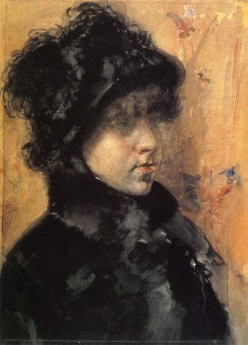 A Portrait Study | William Merritt Chase | oil painting