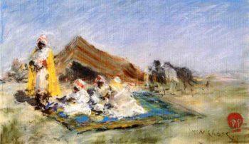 Arab Encampment | William Merritt Chase | oil painting