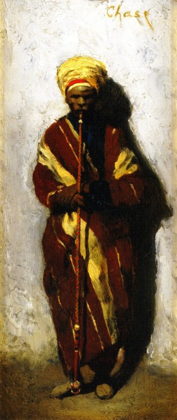 Arab with Pipe | William Merritt Chase | oil painting