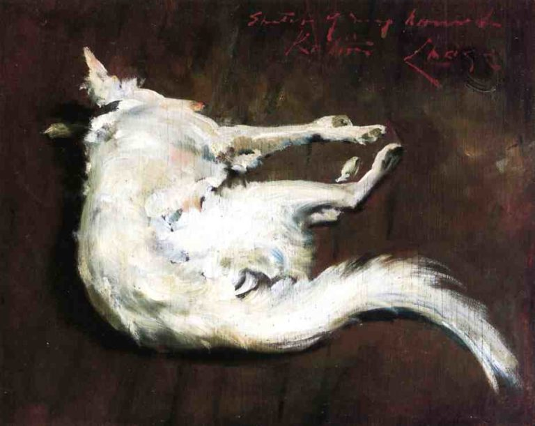 A Sketch of My Hound Kuttie | William Merritt Chase | oil painting