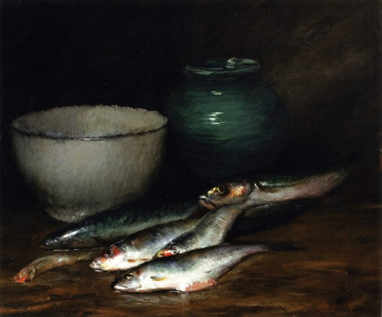 A Small Pile of Fish | William Merritt Chase | oil painting