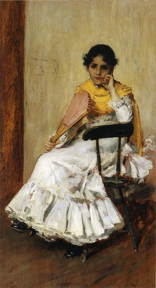A Spanish Girl | William Merritt Chase | oil painting