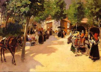 Fiesta en el Pueblo | Julio Vila Prades | oil painting