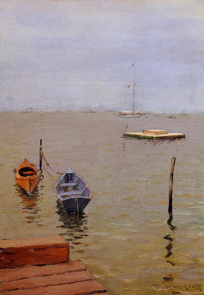 A Stormy Day Bath Beach | William Merritt Chase | oil painting