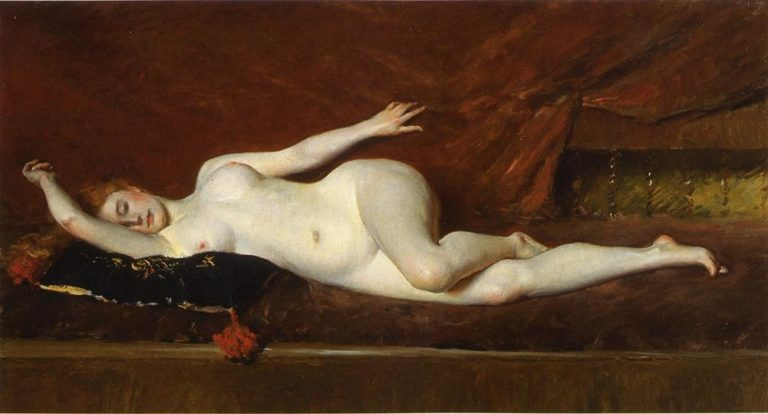 A Study in Curves | William Merritt Chase | oil painting