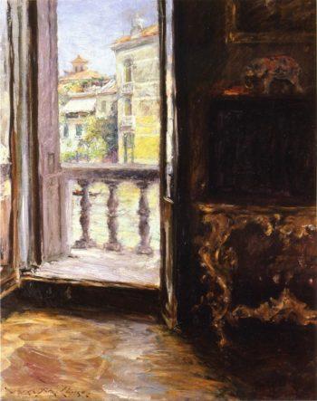 A Venetian Balcony | William Merritt Chase | oil painting