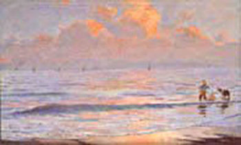 Paisaje al Amanecer | Julio Vila Prades | oil painting