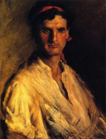 A Young Roman | William Merritt Chase | oil painting