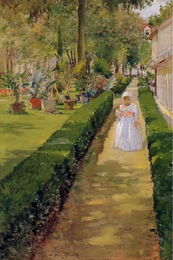 Child on a Garden Walk   William Merritt Chase   oil painting