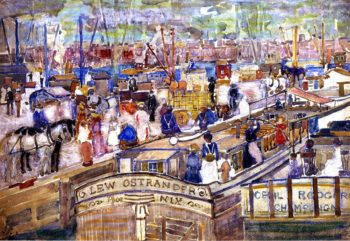 A Dock Scene | Maurice Prendergast | oil painting