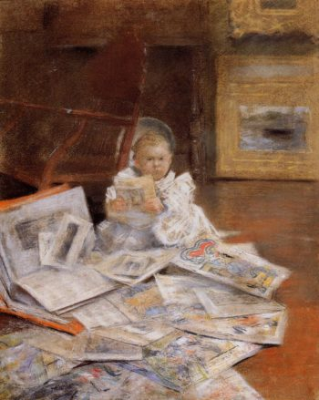 Child with Prints | William Merritt Chase | oil painting