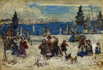 April Snow Salem | Maurice Prendergast | oil painting