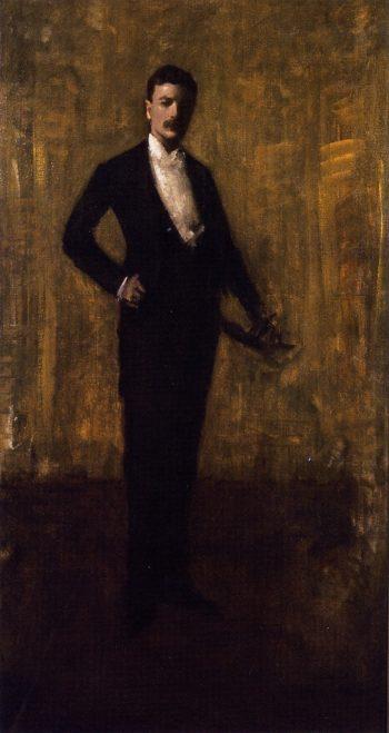 Colbert Huntington Greer Portrait Sketch   William Merritt Chase   oil painting
