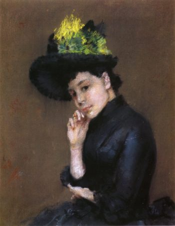 Contemplation   William Merritt Chase   oil painting