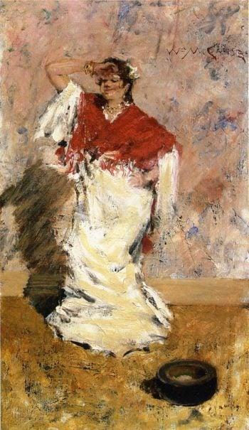 Dancing Girl   William Merritt Chase   oil painting