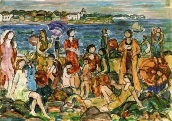 Bathers New England | Maurice Prendergast | oil painting