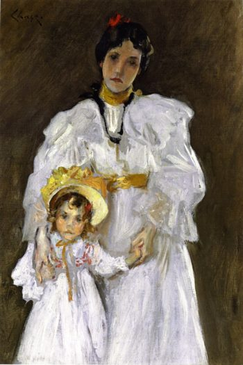 Double Portrait A Sketch | William Merritt Chase | oil painting