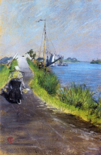 Dutch Canal | William Merritt Chase | oil painting