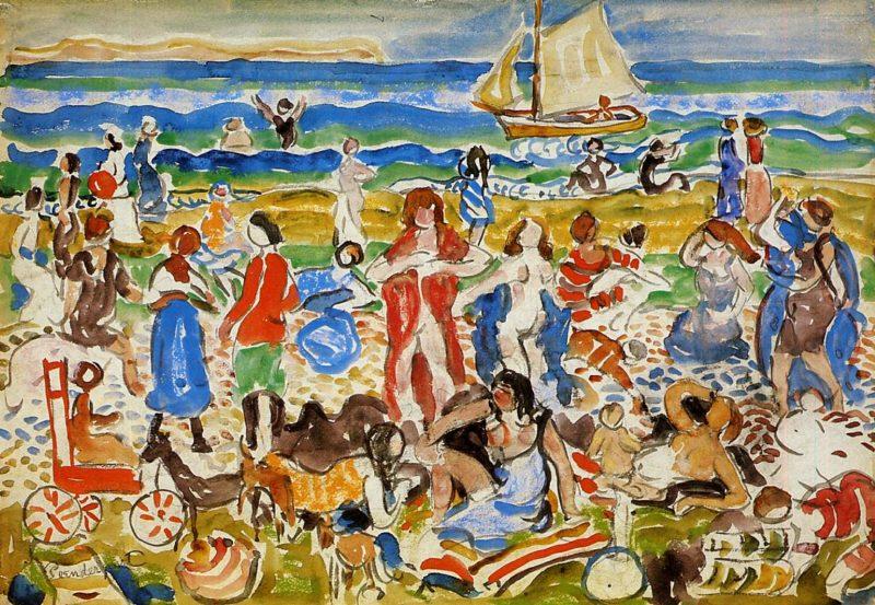 Bathers | Maurice Prendergast | oil painting