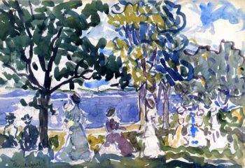 Beach Promenade | Maurice Prendergast | oil painting
