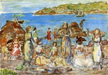 Beach Scene New England | Maurice Prendergast | oil painting