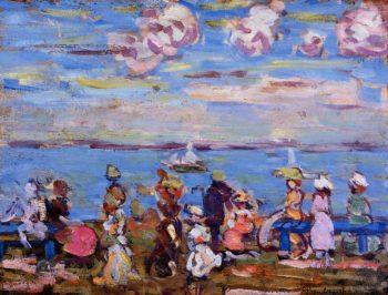 Beach Scene No 4 | Maurice Prendergast | oil painting