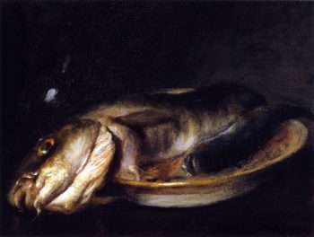 Fish on a Plate | William Merritt Chase | oil painting