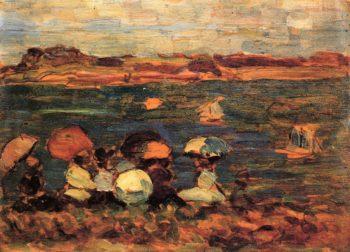 Beach Scene St Malo | Maurice Prendergast | oil painting