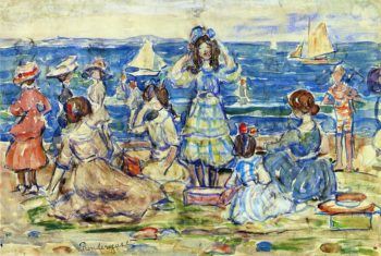 Beach Scene with Boats | Maurice Prendergast | oil painting