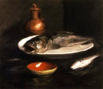 Fish Still LIfe | William Merritt Chase | oil painting