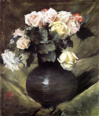 Flowers | William Merritt Chase | oil painting