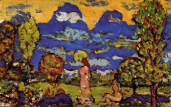 Blue Mountains | Maurice Prendergast | oil painting